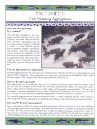 Fact Sheet: Fish Spawning Aggregations